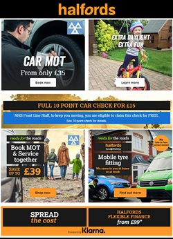 Cars, Motorcycles & Spares offers in the Halfords catalogue in Bournemouth ( More than a month )