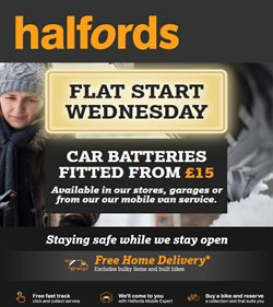 Cars, Motorcycles & Spares offers in the Halfords catalogue in Glasgow ( 1 day ago )