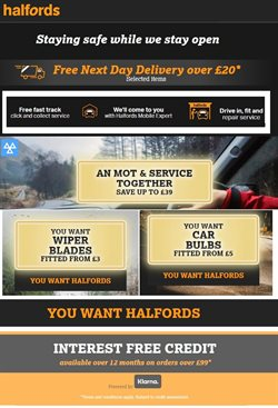 Cars, Motorcycles & Spares offers in the Halfords catalogue in Manchester ( 25 days left )