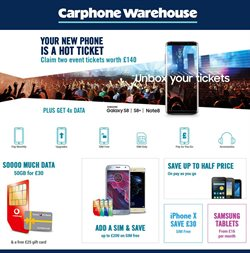 IPhone offers in the Carphone Warehouse catalogue in Widnes