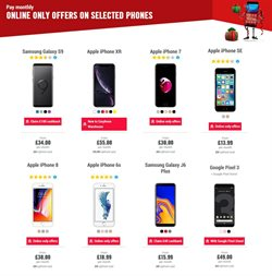 Samsung smartphones offers in the Carphone Warehouse catalogue in Aberdeen