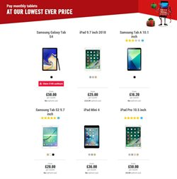 Tablet offers in the Carphone Warehouse catalogue in Barking-Dagenham