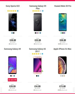 Sony smartphones offers in the Carphone Warehouse catalogue in Aberdeen
