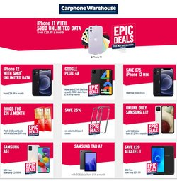 Electronics offers in the Carphone Warehouse catalogue ( 1 day ago)