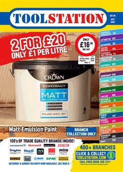 Garden & DIY offers in the Toolstation catalogue in Rotherham ( 16 days left )