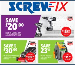 Garden & DIY offers in the Screwfix catalogue in Liverpool