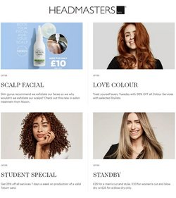 Headmasters offers in the Headmasters catalogue ( 4 days left)