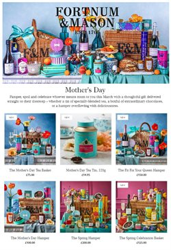 Mother's Day offers in the Fortnum & Mason catalogue ( 10 days left)