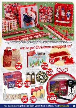 Christmas decoration offers in the The Original Factory Shop catalogue in Runcorn