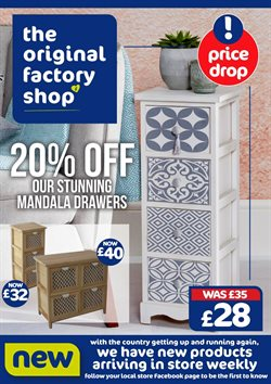 Home & Furniture offers in the The Original Factory Shop catalogue in Brighton ( Published today  )