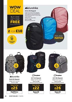 Clothes, Shoes & Accessories offers in the GO Outdoors catalogue ( 9 days left )