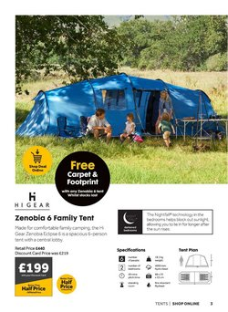 Offers of Tent in GO Outdoors