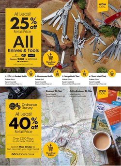 Offers of Maps in GO Outdoors
