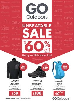 GO Outdoors offers in the GO Outdoors catalogue ( Published today)