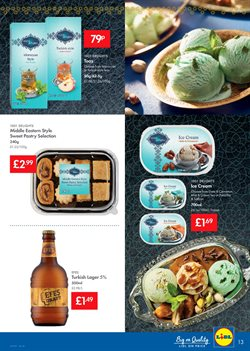 Ecological beer offers in the Lidl catalogue in London