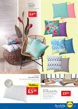 Cushions offers in the Lidl catalogue in London