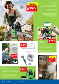 Lighting offers in the Lidl catalogue in London