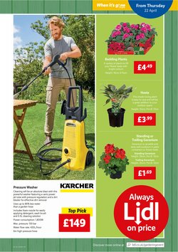 Offers of Pressure washer in Lidl