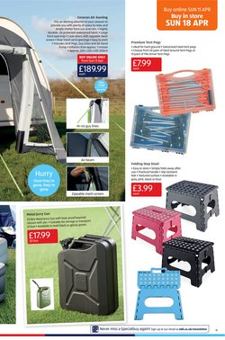 Offers of Tent in Aldi