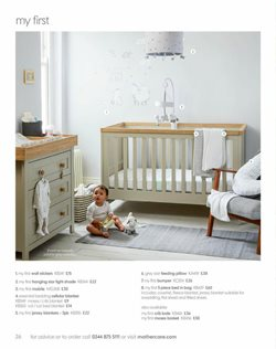 Wallpaper offers in the Mothercare catalogue in Aberdeen