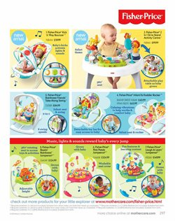 Fisher Price offers in the Mothercare catalogue in London