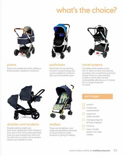 Pram offers in the Mothercare catalogue in London