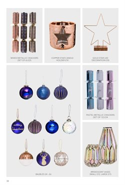 Christmas tree offers in the Debenhams catalogue in London