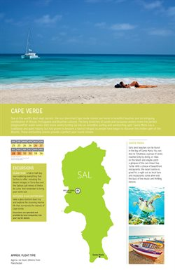 Cape Verde offers in the Thomas Cook catalogue in London