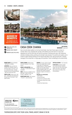 Crete offers in the Thomas Cook catalogue in London