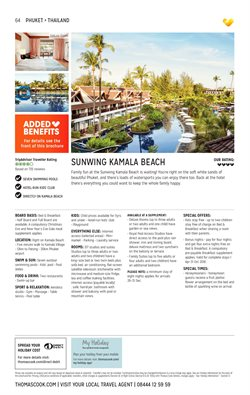 Phuket offers in the Thomas Cook catalogue in London