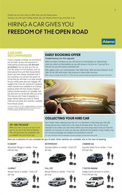 Car hire offers in the Thomas Cook catalogue in London