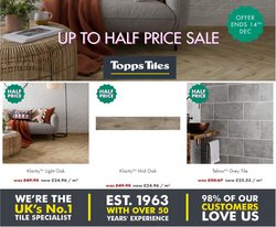 Topps Tiles offers in the Topps Tiles catalogue ( More than a month)
