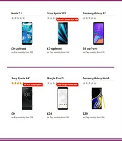 Sony smartphones offers in the Vodafone catalogue in Aberdeen