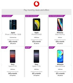 Electronics offers in the Vodafone catalogue in Swansea ( 3 days left )