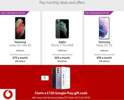 Electronics offers in the Vodafone catalogue in Newport ( 9 days left )
