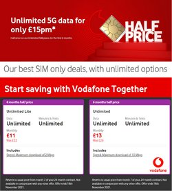 Vodafone offers in the Vodafone catalogue ( 22 days left)