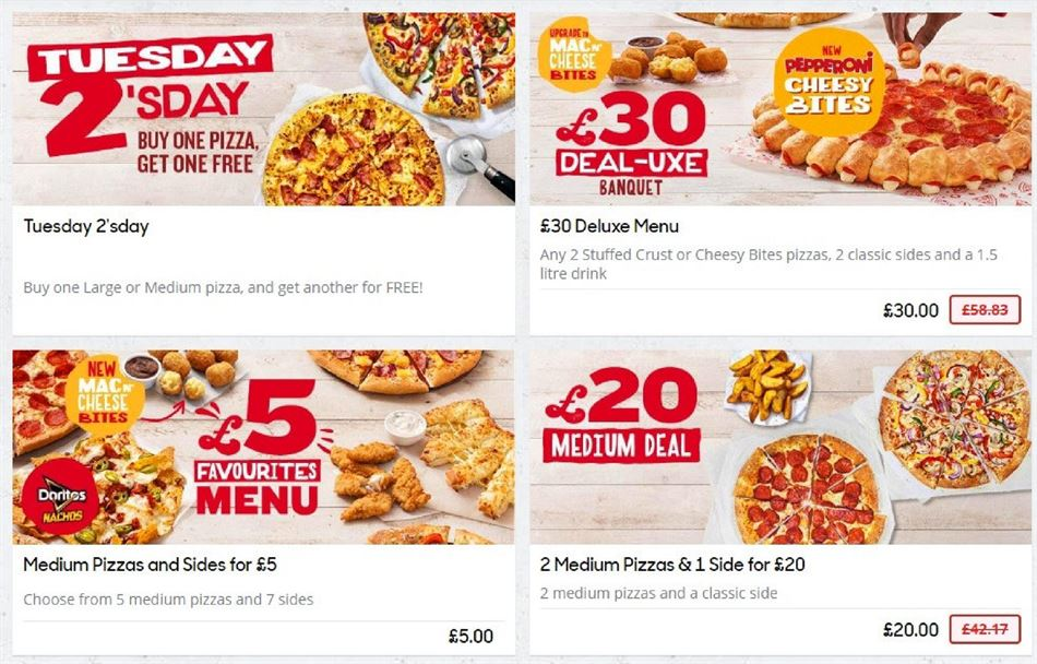 Pizza Hut In Barnstaple Vouchers Offers