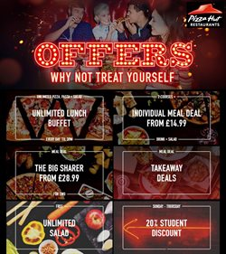 Restaurants offers in the Pizza Hut catalogue in Bury ( Expires tomorrow )