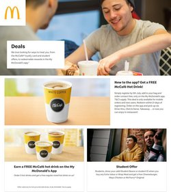 Restaurants offers in the McDonald's catalogue ( 12 days left)
