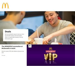 Restaurants offers in the McDonald's catalogue ( Expires tomorrow)