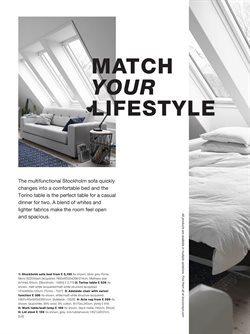 Sofa bed offers in the BoConcept catalogue in London