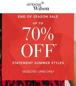 Ambrose Wilson offers in the Ambrose Wilson catalogue ( Expires today)
