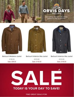 Orvis offers in the Orvis catalogue ( Expires today)