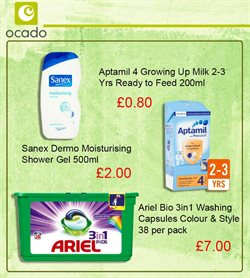 Shower offers in the Ocado catalogue in London