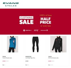 Evans Cycles offers in the Evans Cycles catalogue ( 9 days left)