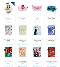 Offers of Notebooks in Disney Store