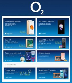 Mobile phones offers in the O2 catalogue in London
