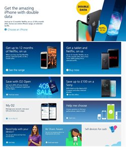 IPhone offers in the O2 catalogue in London