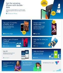 IPhone offers in the O2 catalogue in Widnes