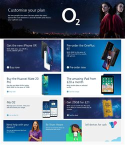 IPhone offers in the O2 catalogue in Cheltenham
